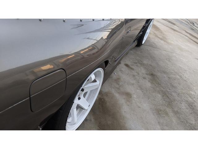 車高調 デフ ワイドフェンダー ロールバー デュアルマフラー 純正エアロ デフィブースト計 強化クラッチ スタンスマジック18インチ S14タービン(31枚目)