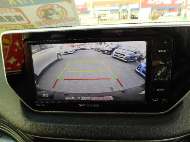 バックカメラ付きで駐車も楽々!