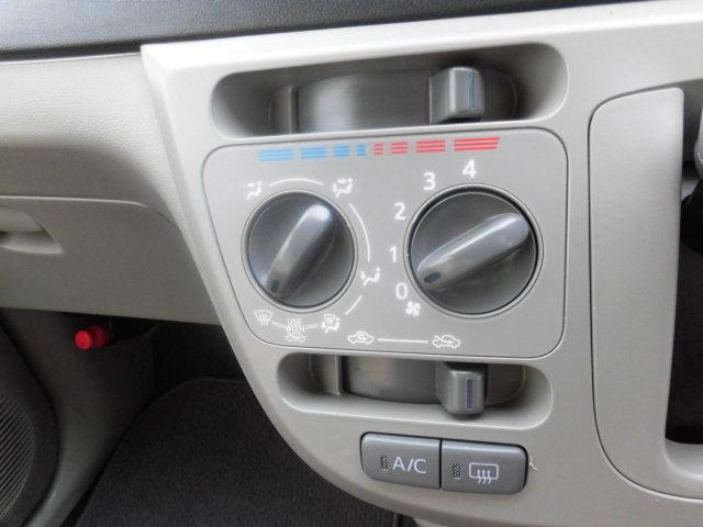 エアコンスイッチはマニュアル式です。 シンプルで使いやすい点も魅力的です!