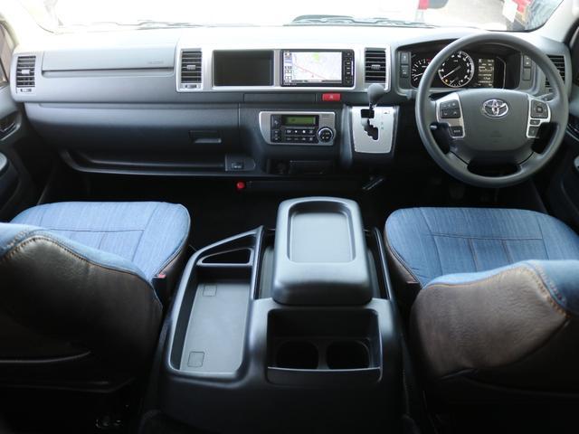 GL 10人乗り3ナンバー登録 ガソリン4WD 寒冷地仕様 内装アレンジVer1デニム バンパーガード オーバーフェンダー 16インチAW ナビ ETC 後席モニター ベッド テーブル 床張り(2枚目)