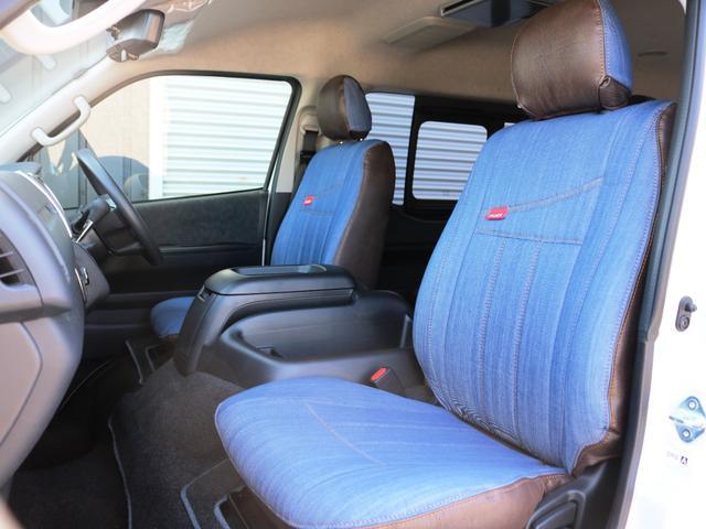 GL 10人乗り3ナンバー登録 ガソリン4WD 寒冷地仕様 内装アレンジVer1デニム バンパーガード オーバーフェンダー 16インチAW ナビ ETC 後席モニター ベッド テーブル 床張り(18枚目)