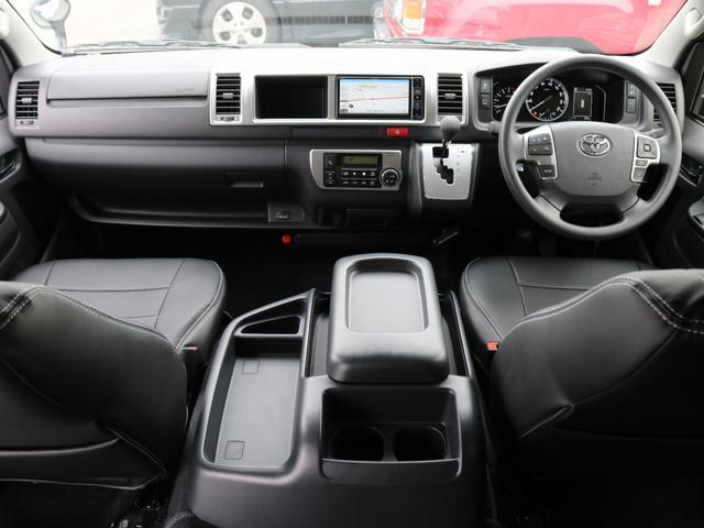 GL 10人乗り3ナンバー登録 ガソリン2WD FLEXオリジナル内装アレンジVer3 ローダウン 17インチAW ナビ ETC 後席モニター 3人掛けシート2脚 フルフラットベッド 床張り(2枚目)