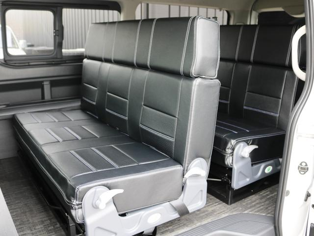 GL 10人乗り3ナンバー登録 ガソリン2WD FLEXオリジナル内装アレンジVer3 ローダウン 17インチAW ナビ ETC 後席モニター 3人掛けシート2脚 フルフラットベッド 床張り(25枚目)
