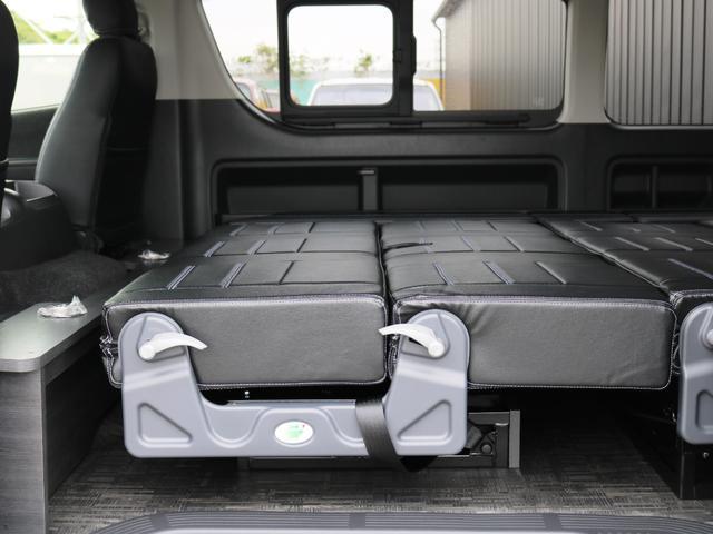 GL 10人乗り3ナンバー登録 ガソリン2WD FLEXオリジナル内装アレンジVer3 ローダウン 17インチAW ナビ ETC 後席モニター 3人掛けシート2脚 フルフラットベッド 床張り(26枚目)