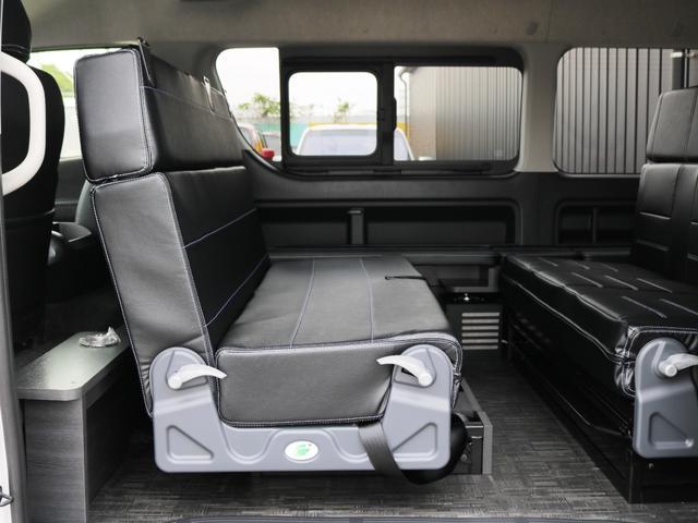 GL 10人乗り3ナンバー登録 ガソリン2WD FLEXオリジナル内装アレンジVer3 ローダウン 17インチAW ナビ ETC 後席モニター 3人掛けシート2脚 フルフラットベッド 床張り(27枚目)