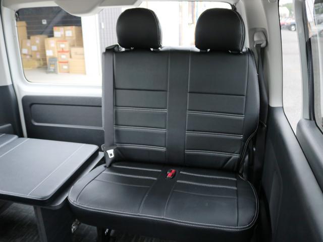 GL 10人乗り3ナンバー登録 ガソリン2WD FLEXオリジナル内装アレンジVer3 ローダウン 17インチAW ナビ ETC 後席モニター 3人掛けシート2脚 フルフラットベッド 床張り(29枚目)