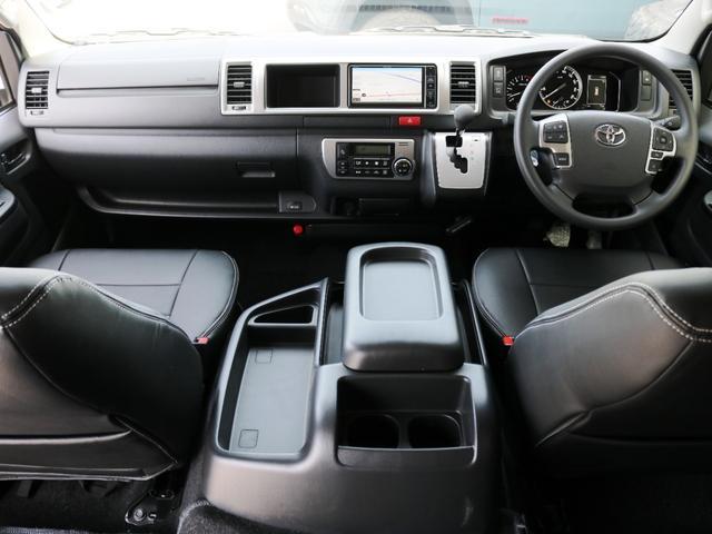 GL 10人乗り3ナンバー登録 ガソリン2WD ローダウン 17インチアルミホイール ナビ ETC フルフラットベッド展開 脱着式センターテーブル 3人掛けシートセカンドシート 床張り(2枚目)