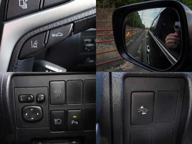 安心&安全装備!プリクラッシュやレーダークルーズ☆万一の時のブレーキサポート!ブラインドスポットモニター付!ミラーで見にくい後方の接近車両をドアミラー内のLEDインジゲーターが点灯し注意喚起を促します