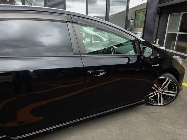 G 後期・黒ハーフレザー・フルエアロ・シャレン20インチAW・ローダウン・LEDヘッド/フォグ・SDナビTV・BT音楽・USB準備/音楽・走行中可能・Bカメラ・ETC・クルコン・ハイブリット・カスタムカー(28枚目)