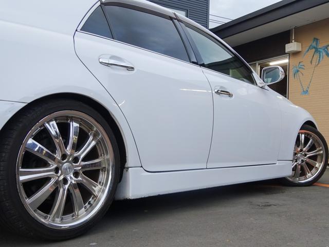 250G 後期・社外フルエアロ・アネーロ19インチAW・車高調・HIDライト・フィルムガラス・HDDナビ・地デジTV・走行中可能・バックカメラ・ETC・両側パワーシート・ステアリングスイッチ・フルカスタムカー(9枚目)