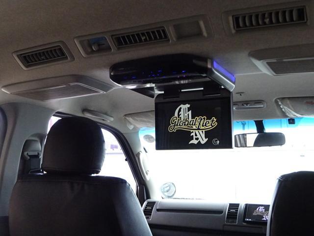 ロングスーパーGL 後期・フルエアロ・20インチAW・ローダウン・両側スライド・社外LEDテール・カロッツェリアナビ・地デジTV・BT音楽・走行中可能・フリップダウンモニタ・Bカメ・ETC・コンビH・黒革調・ベットキット(11枚目)