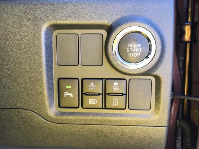 運転席側には、よく使うスイッチ類を集中してレイアウト。プッシュスタート・アイドリングストップ解除・スマートアシスト・コーナーセンサーのスイッチなどがあります。