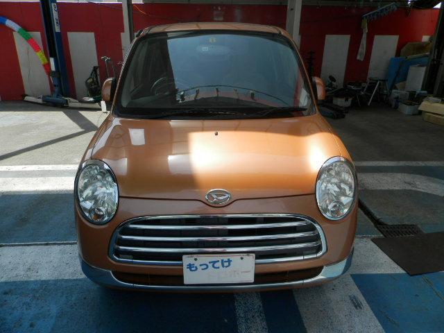 ミラジーノが入庫しました!お洒落なオレンジ色!キセノンライト!キーレス!機関良好!内外装綺麗なオススメ車です!
