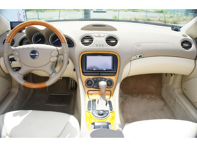 メルセデス・ベンツ M・ベンツ SL500 AMGエアロ AMG19アルミ 社外HDDナビ