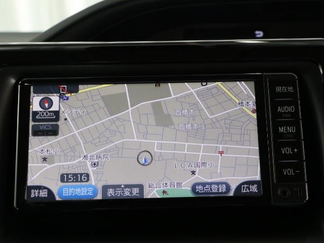 ハイブリッドX LEDヘッド メモリ-ナビ ETC 3列シート Wエアコン ナビTV ワンセグ イモビライザー クルコン キーレス 衝突回避支援 Bモニ CD再生 Pスライド Sキー アルミ 横滑り防止装置 AAC(5枚目)