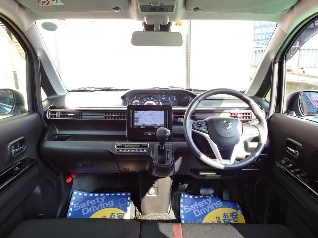 スティングレー HYBRID X 1オーナー車 メモリーナビ ワンセグTV DVD再生 オートエアコン LEDヘッドライト シートヒーター 純正14インチAW(5枚目)