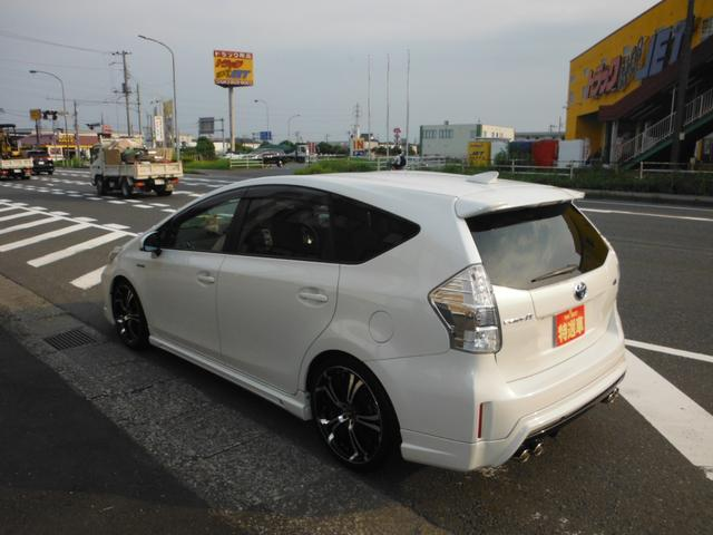 トヨタ プリウスアルファ Sツーリングセレクション社外アドミレーションエアロ