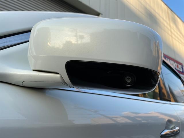 ミラーにはサイドビューカメラ搭載。死角が減るため駐車時等も安心です