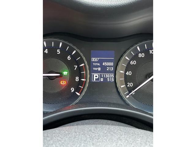 EV走行距離表示も可能で、現在45000キロ。まだまだ現役で走行できます。