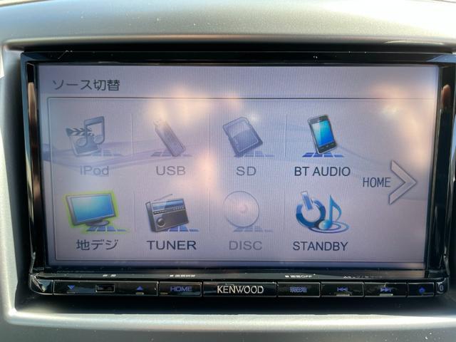 Kenwoodナビ装着車です。フルセグやUSB入力、Bluetooth対応モデルのKXM-E500になります。