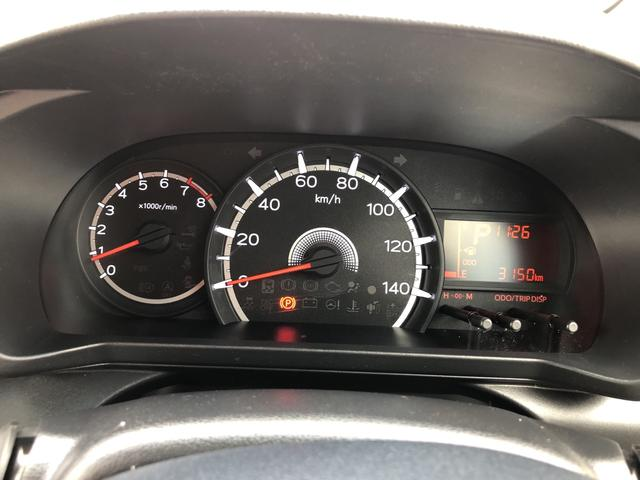 走行距離3150キロになります。まだまだこれからのキョリですね!見やすいスピードメーターですね。