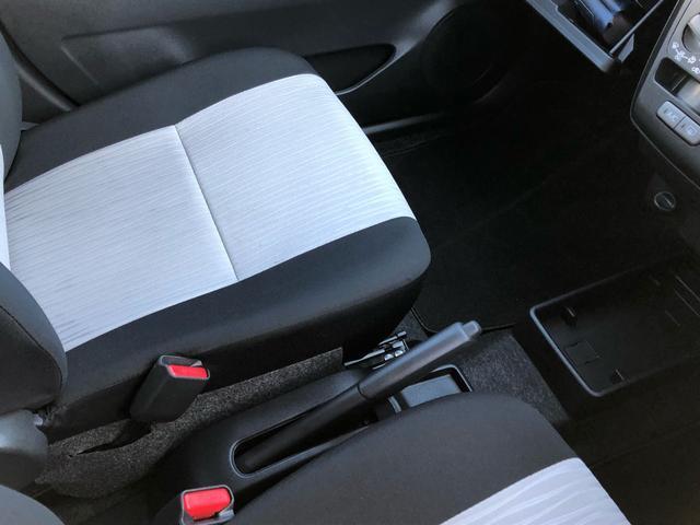サイドブレーキはシート間にあります。