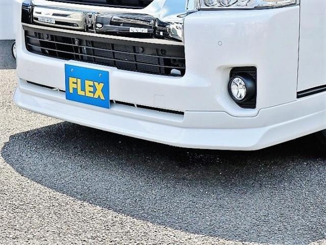 GL ロング PVM付 フレックスオリジナルシートアレンジVer1 ベットキット搭載 ローダウン アルミ フロントスポイラー ナビ ETC2.0 パノラマ連動 フリップダウン ローダウン LEDテール カスタム済(8枚目)