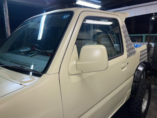 XC 4WD インタークーラーターボ リフトアップ 社外マフラー 社外シート ロールバー オーバーフェンダー 社外アルミ 社外ハンドル ETC 構造変更届出 普通車登録 追加メーター(39枚目)