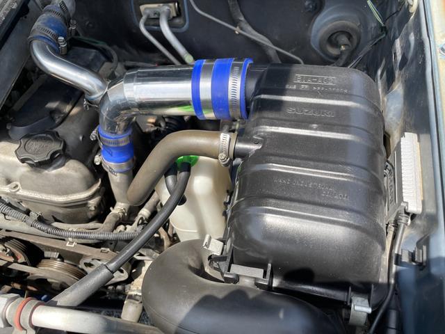 XC 4WD インタークーラーターボ リフトアップ 社外マフラー 社外シート ロールバー オーバーフェンダー 社外アルミ 社外ハンドル ETC 構造変更届出 普通車登録 追加メーター(75枚目)
