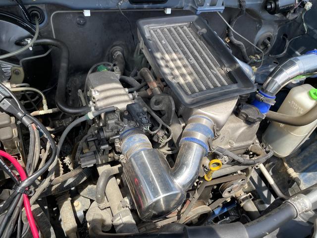 XC 4WD インタークーラーターボ リフトアップ 社外マフラー 社外シート ロールバー オーバーフェンダー 社外アルミ 社外ハンドル ETC 構造変更届出 普通車登録 追加メーター(76枚目)