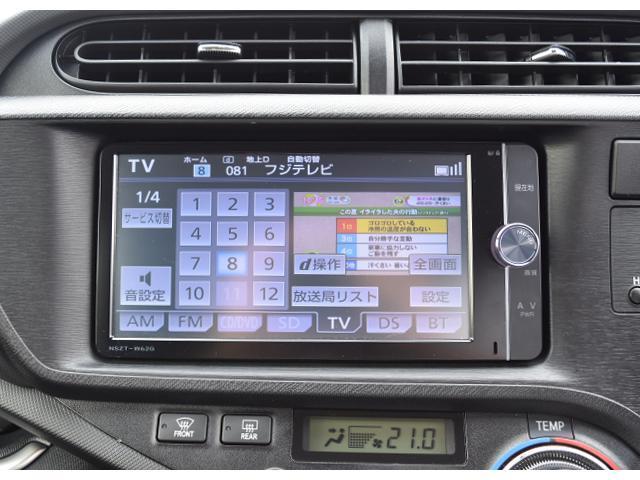 トヨタ アクア Gブラックソフトレザーセレクション ナビTV Rカメラ