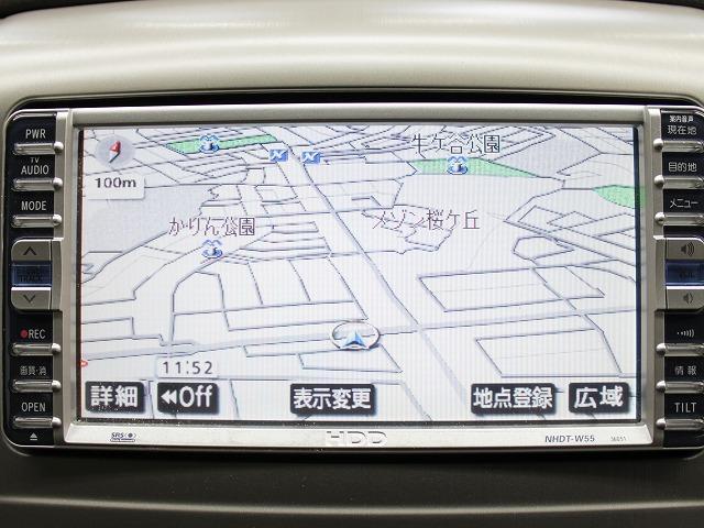 トヨタ アルファードV AX-L電動ドアHDDナビ新品エアロ4連イカリングライト