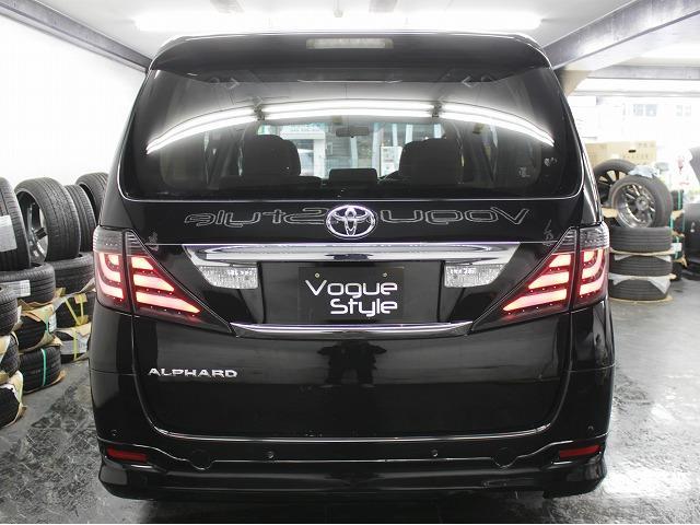 トヨタ アルファード 240X電動ドア地デジHDD2モニター4連イカリングライト