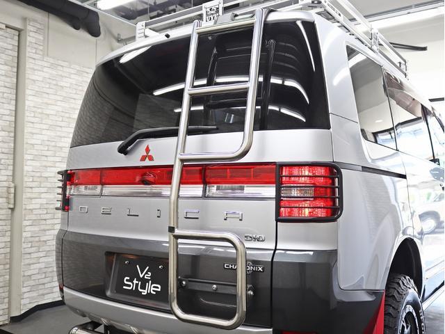 シャモニー 4インチボディーリフトUP 1オーナー 両側電動パワーS Fダウンモニター 新品AW JAOSフロントスキッドバー ルーフキャリア リアラダー ヒッチキャリア ベッドキット サブバッテリー 8人乗り(23枚目)