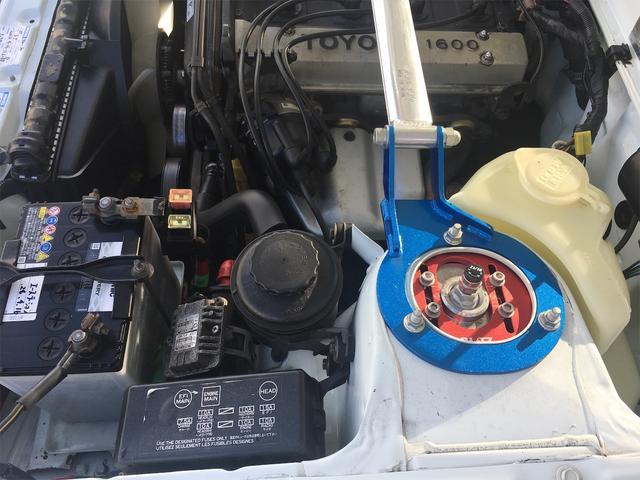 GT APEX 無事故車 ブリッツ車高調 フジツボタコ足デュアルマフラー ボルクTE37V14インチAW クスココントロールアームラテラルロッドタワーバー 燃料タンクデスビダイナモセルTベル交換済み ノーマルルーフ(20枚目)
