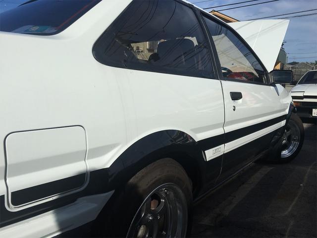 GT APEX 無事故車 ブリッツ車高調 フジツボタコ足デュアルマフラー ボルクTE37V14インチAW クスココントロールアームラテラルロッドタワーバー 燃料タンクデスビダイナモセルTベル交換済み ノーマルルーフ(63枚目)