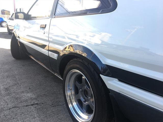 GT APEX 無事故車 ブリッツ車高調 フジツボタコ足デュアルマフラー ボルクTE37V14インチAW クスココントロールアームラテラルロッドタワーバー 燃料タンクデスビダイナモセルTベル交換済み ノーマルルーフ(64枚目)