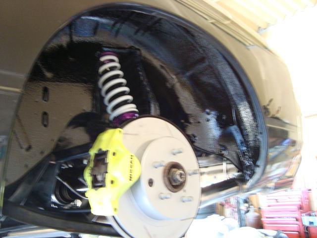 タイプX 純正5速 ターボ 修復歴無 新品ロケットバニーフルエアロ 新品ディアルマフラー 新品D-MAX車高調 新品前置きインタークーラー 新品パーツ多数 フルノーマルから自社制作(36枚目)