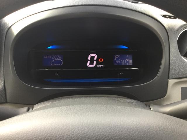 見やすいデジタルタイプのスピードメーター