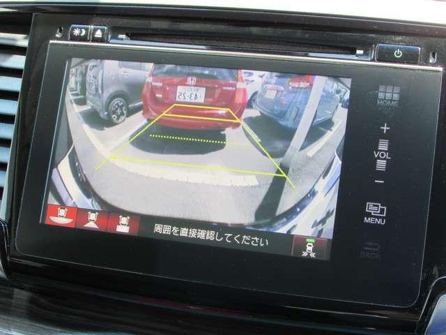 ナビ付きでお出かけも安心です!フルセグTVもDVDの視聴も可能で退屈しません♪また、リアカメラが付いています。駐車時や後退時に視界確保のサポートをしてくれるので安心できますね☆