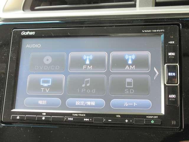 ナビゲーションは純正メモリーナビVXM-194VFiが装着されております。AM/FM/CD/DVD再生/フルセグTV/インターナビがご利用いただけます。