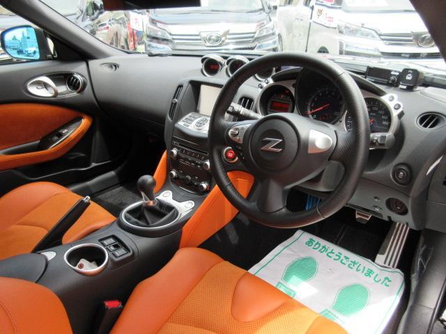 バージョンST 6速MT・SSR19アルミ・テイン車高調・ニスモマフラー・ワンオーナー・オレンジハーフレザーシート・シートヒーター・・スモークフイルム・ニスモタワーバー・ETC・・3連メーター・純正OPリアスポイラー(2枚目)