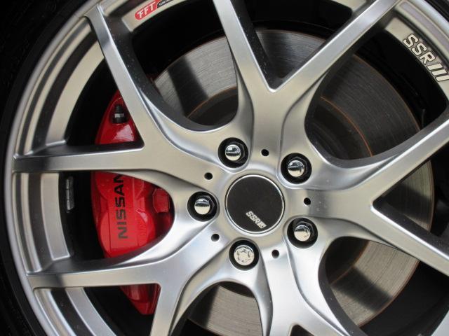 バージョンST 6速MT・SSR19アルミ・テイン車高調・ニスモマフラー・ワンオーナー・オレンジハーフレザーシート・シートヒーター・・スモークフイルム・ニスモタワーバー・ETC・・3連メーター・純正OPリアスポイラー(5枚目)