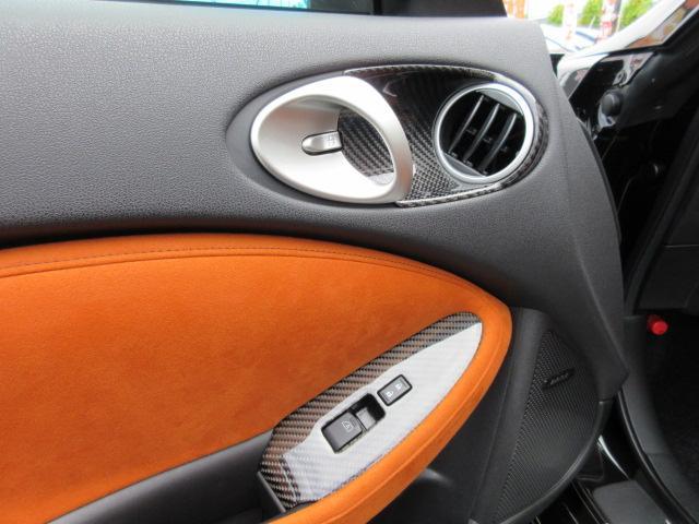 バージョンST 6速MT・SSR19アルミ・テイン車高調・ニスモマフラー・ワンオーナー・オレンジハーフレザーシート・シートヒーター・・スモークフイルム・ニスモタワーバー・ETC・・3連メーター・純正OPリアスポイラー(43枚目)