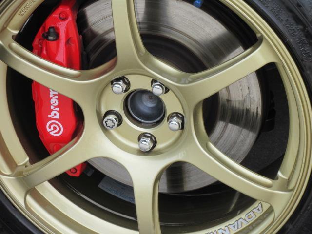 STI スポーツ 6速MT・最終型 ワンオーナー 専用ハーフレザーシート カロッツェリアナビ フルセグTV バックカメラ クルコン シートヒーター アドバンレーシング18ゴールドアルミ ブレンボ STiスプリング(18枚目)