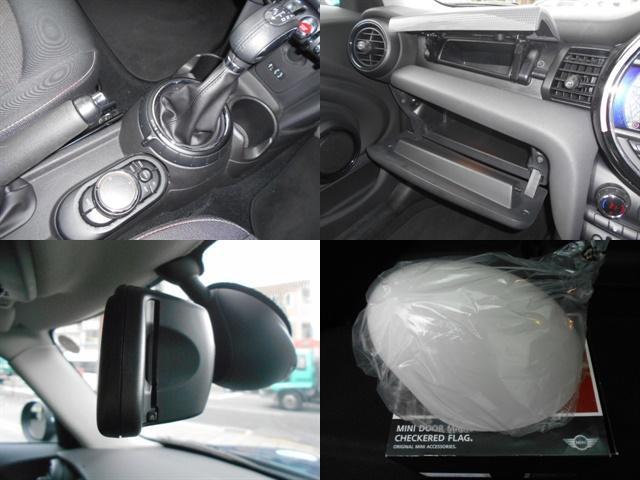 クーパー ワンオーナー 禁煙車 純正HDDナビ ルームミラー一体型ETC HIDライト スマートキー2個 チェック柄サイドミラーカバー 純正サイドミラー有り 毎年分ディーラー記録簿(9枚目)