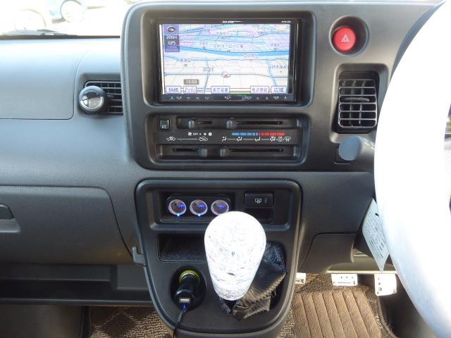 ダイハツ ハイゼットカーゴ クルーズターボ 1年保証 HDDナビ 外15AW 5速MT