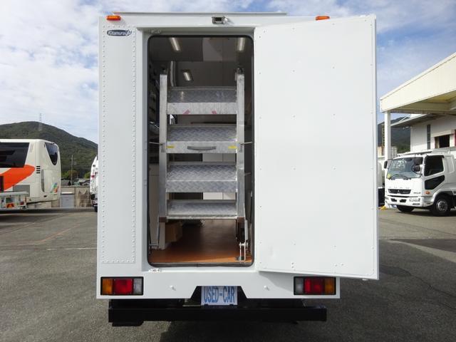 移動販売車 コンビニ 冷凍機 ガソリン発電機 0.45t積み(13枚目)