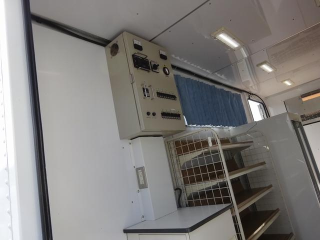 移動販売車 コンビニ 冷凍機 ガソリン発電機 0.45t積み(16枚目)