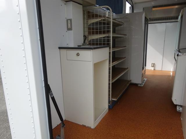 移動販売車 コンビニ 冷凍機 ガソリン発電機 0.45t積み(18枚目)